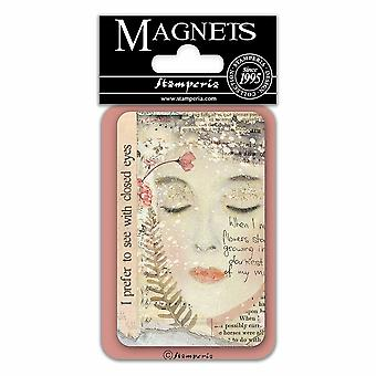 Stamperia Closed Eyes 8x5.5cm Magnet