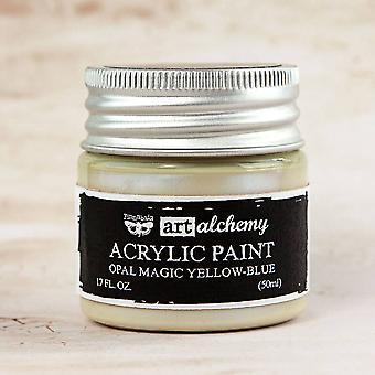 Finnabair Art Alchemy Acrylic Paint Opal Magic Yellow-Blue