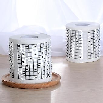 1 Roll 2 Ply Novelty Number Sudoku Printed Toilet Paper
