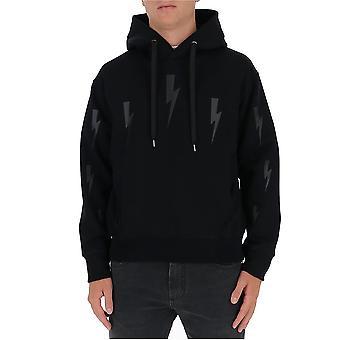 Neil Barrett Pbjs655sp527s0101 Men's Black Viscose Sweatshirt