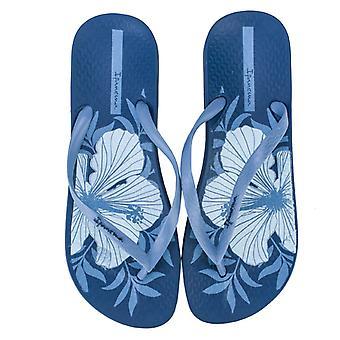Kvinnor's Ipanema Anatomic Temas Flip Flops i blått
