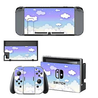 Pure White Cloud Nintendo Switch Skin Sticker And Joy-con Controller