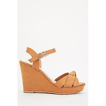 Wedge Suedette Sandals