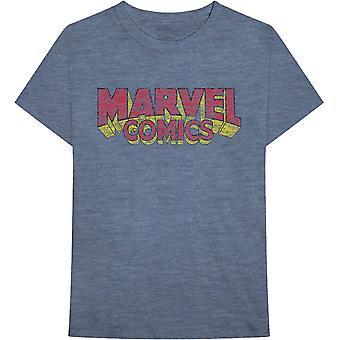 Marvel Comics Distressed Logo Official Tee T-Shirt Unisex