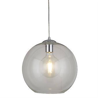 Søgelys Bolde - 1 Light Ceiling Vedhæng, Chrome, Glas Shade, E27