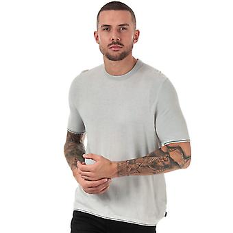 Men's Ted Baker Velk Knitted Crew Neck T-shirt in Grijs