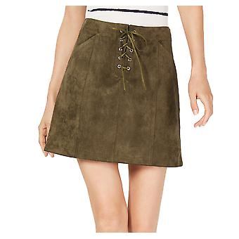 Sage | Faux-Suede Lace-Up Skirt