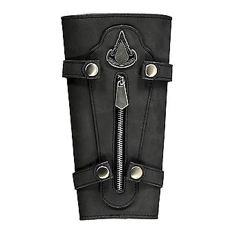 Assassin's Creed Valhalla manžeta černá, s snap knoflíky a zipem.