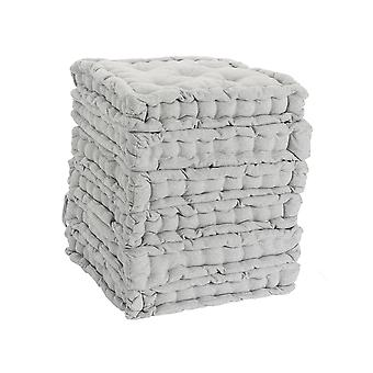 Nicola Spring Square Padded French Mattress Dining Chair Cushion Seat Pad - Grey - Pack of 6