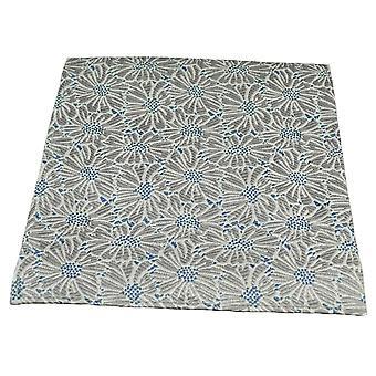 Corbatas Planeta Blanco, Plata Gris y Azul Flor Patrón De Seda Bolsillo Cuadrado Pañuelo