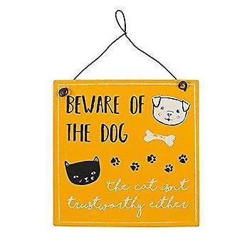 Hüten Sie sich vor dem Hund Metall Zeichen