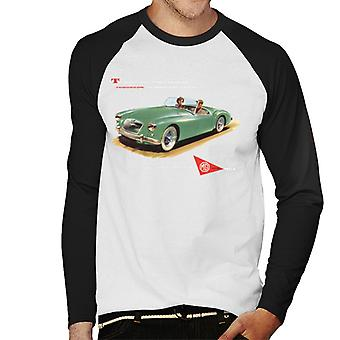 MG On Road And Track British Motor Heritage Men's Baseball Long Sleeved T-Shirt