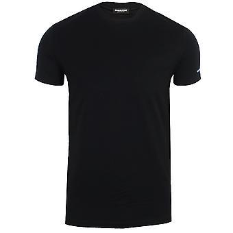 Dsquared2 men's black round neck t-shirt