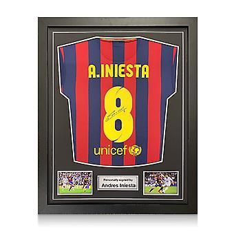 Andres Iniesta underskrevet Barcelona Shirt 2013-14. Standardramme