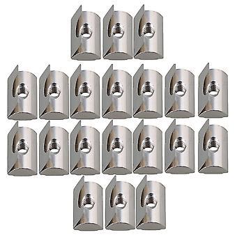 20piece Silver Industrial European Standard M5 Elastic Nut 30/40 Profile