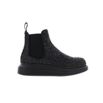 Alexander McQueen XL Derby Sparkle Black 621041W4EY71000 shoe