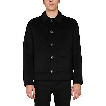 Ami H20hm007251001 Men's Jaqueta de lã preta exterior