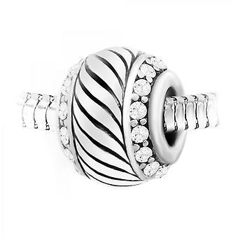 Boh me cristal orn encanto de perlas y acero por SC Crystal