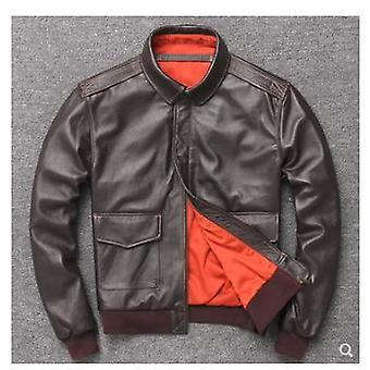 Karl men's bomber leather jacket