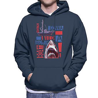 Jaws You Are Gonna Need A Bigger Boat Montage Men's Hooded Sweatshirt