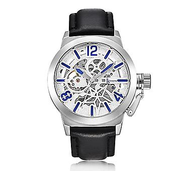 IK COLOURING K003 Business Style Male Wristwatch Leather Strap Mechanical
