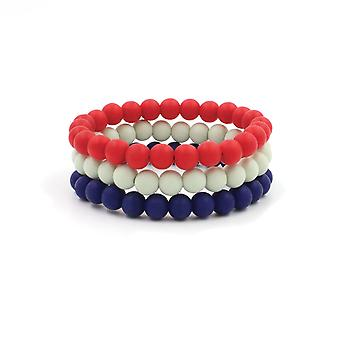 Silicon Rubber Beaded Bracelets