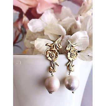Pendientes de perlas barrocas de agua dulce