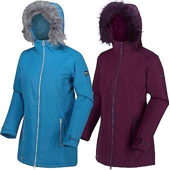 Regatta Womens Myla Waterproof Insulated Fur Trimmed Hooded Walking Jacket Coat