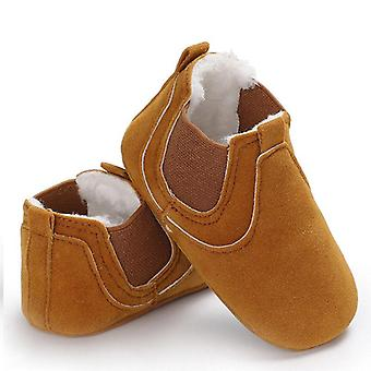 Soft Leather Sole Prewalker Warm Shoes For Newborn Baby