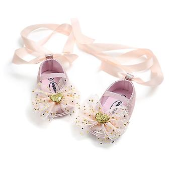 Sequined Bow Floral Style, Dentelle Belt Pattern Baby Shoes