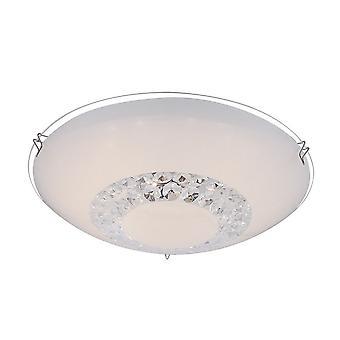 Italux Greyson - Klassische LED Flush Deckenleuchte Weiß, Kühlweiß 4000K 650lm