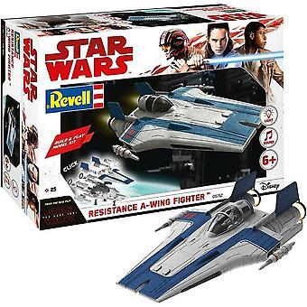 Revell Star Wars Episode VIII Byg og spil A-Wing Fighter, med lys og lyd