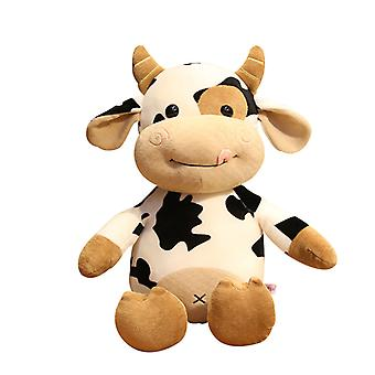 Soft Plush Doll Toy,cute Cartoon Cow Stuffed Animal, Farm Animal Toy, Perfect Present For Kids, Babies, Toddlers