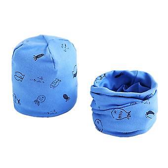 Cotton Plush Hat Scarf Set Cartoon Sheep Owl Stars Baby Hat Winter Hats