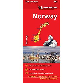 Norway  Michelin National Map 752 Map Michelin National Maps 752