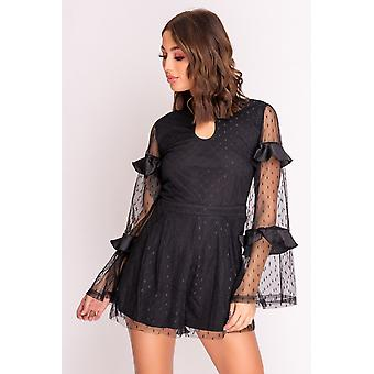 Dobby Mesh Playsuit