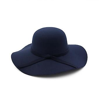 Alkalmi Fedora Széles Karimás Kupola Kiváló minőségű Gyapjú Floppy Cloche Hat