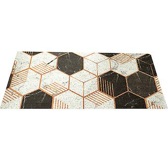 YANGFAN Non Slip Mat Washable Geometric Pattern Floor Mat
