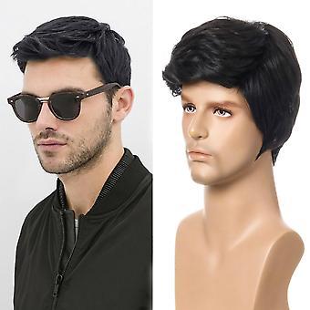 أزياء شعر مستعار قصير الشعر الرجال الباروكات الاصطناعية