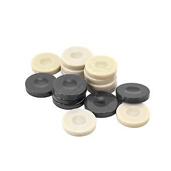 Galalith luksus Backgammon sten mørk grå & Ivory 36mm