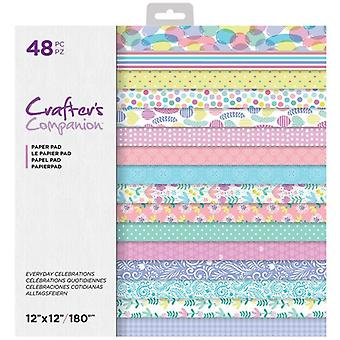 Crafter's Companion Everyday Celebrations 12x12 Tommer Papir Pad