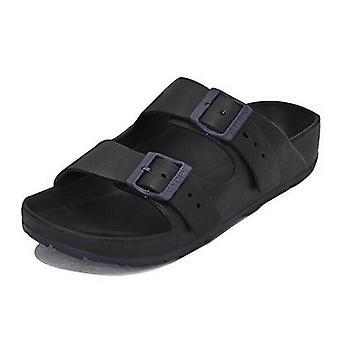 Slydes Watson Womens Slip On Sliders Flip Flops Black S0138S001 Z2A