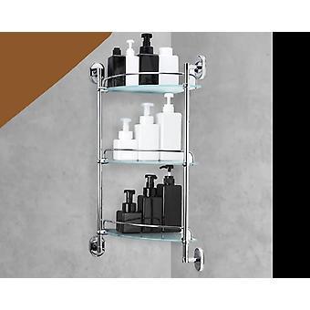 Hylly 3-kerroksinen lasi, WC monikäyttöinen shampoo kori