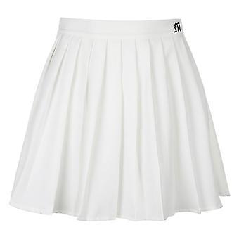 Woman Elastic Waist Sexy Mircro Summer Embroidery Mini Tennis Skirt
