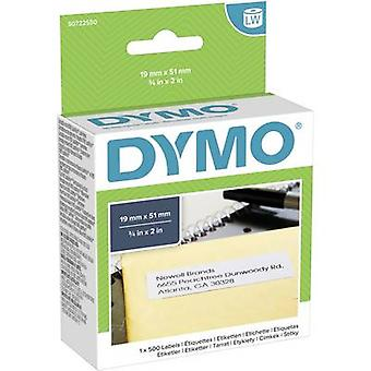 Dymo Label roll 11355 S0722550 19 x 51 mm Paper White 500 pc(s) Etiquetas permanentes para todos os fins
