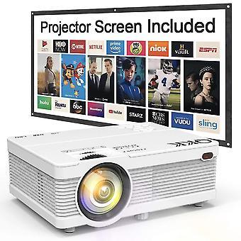Qkk ak-81 projektor 5000 lumen 1080p full hd támogatott [vetítővászon is], hd natív 720p
