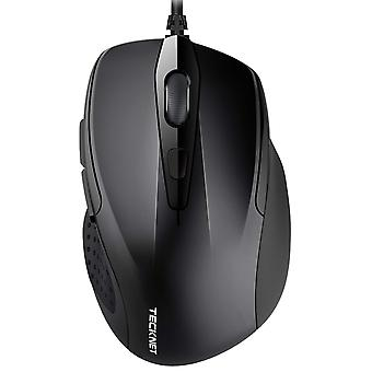 Tecknet pro s2 high performance wired usb mouse, 6 buttons, upto 2000dpi black