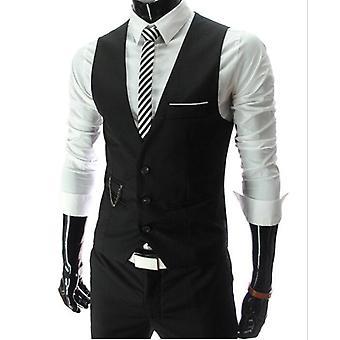 Muži Slim Fit Pánské Oblek Vesta Muž Vesta Gilet Homme Casual Sleevelessmal