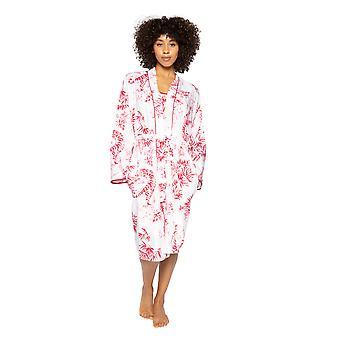 Cyberjammies Kristen 4753 Women's White Tiger Print Cotton Robe