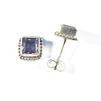 Amethyst Ohrstecker 925 Silber Sterlingsilber Ohrringe Lila (MOS 02-51)